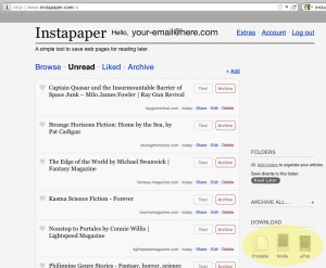 Instapaper Download to Kindle